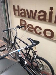 HAWAII RECORDさんの看板が^^;