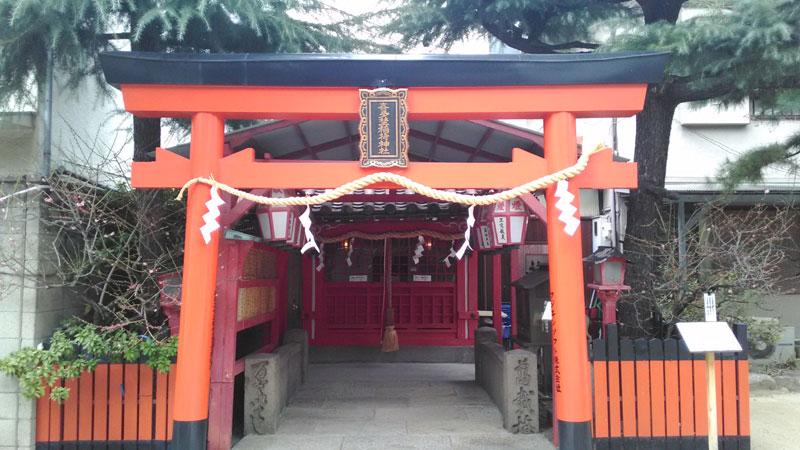 喜多埜稲荷神社と萬載橋
