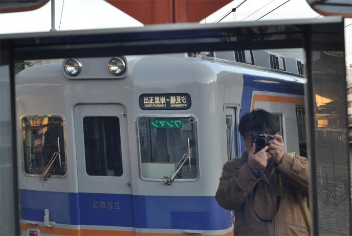 南海電車と自撮