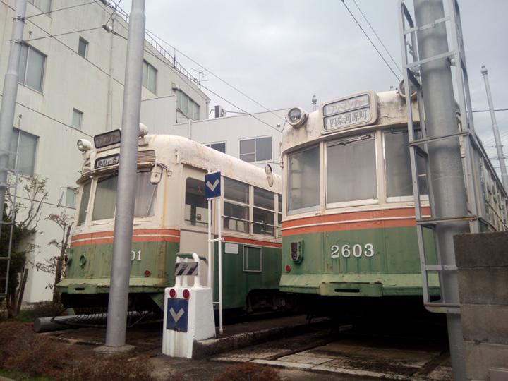 京都コンピュータ学園に保存されている京都市電