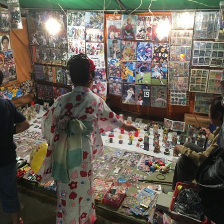 豊崎神社の夏祭りの輪投げ2016