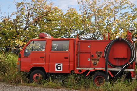 日の岬パークの消防車