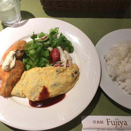 洋食屋 Fujiyaの日替わりランチ